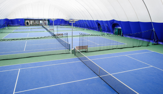 Exclusive Dukes Meadows 'blue surface' GreenSet ® courts