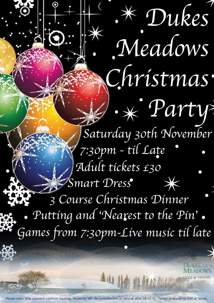 Dukes Meadows Christmas Party 2013
