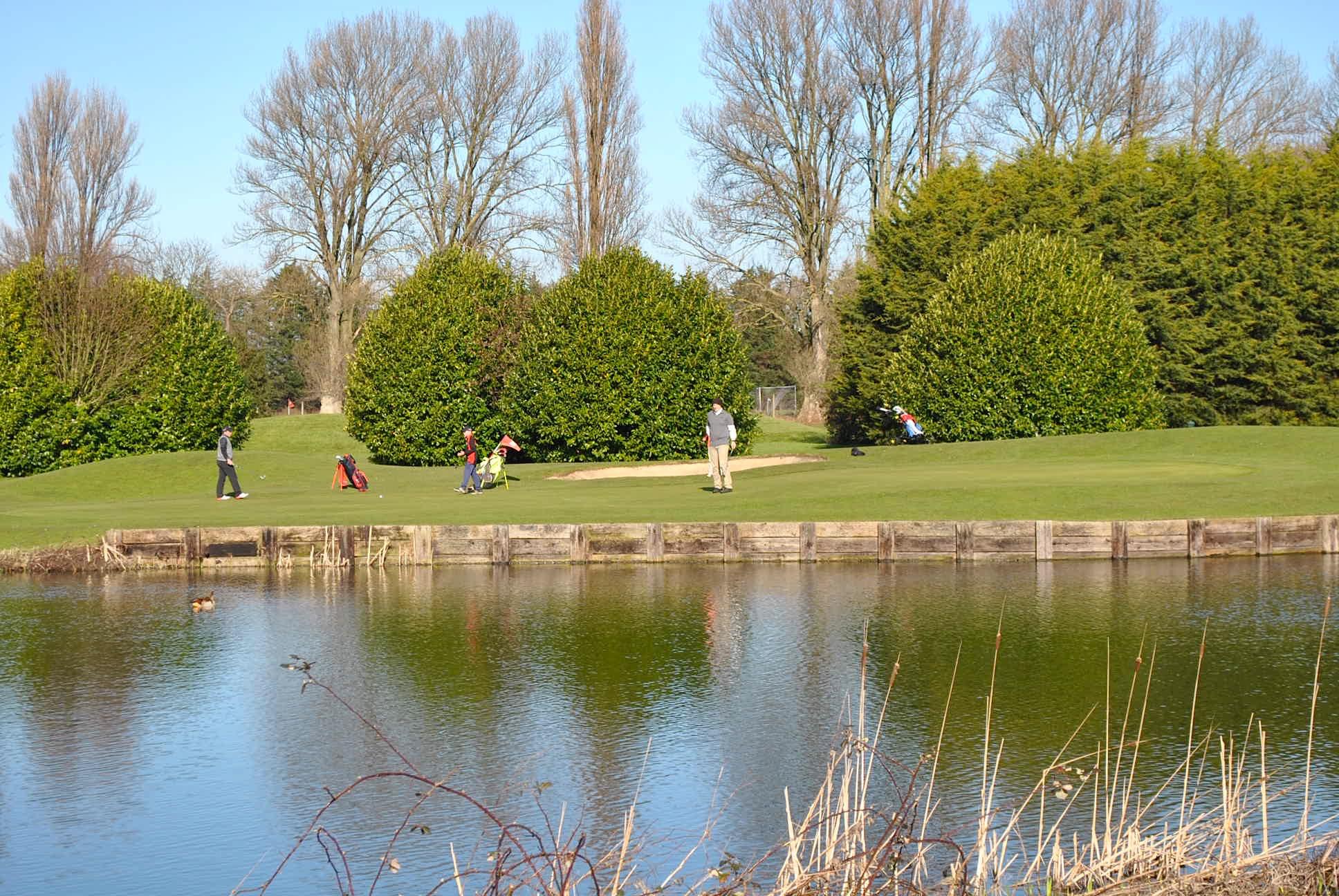 Lake and golf