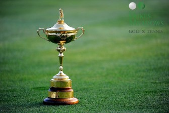 LOUISVILLE, KY - SEPTEMBER 16: The Ryder Cup is shown on the ninth hole during the European team photo shoot prior to the start of the 2008 Ryder Cup at Valhalla Golf Club on September 16, 2008 in Louisville, Kentucky. (Photo by Harry How/Getty Images)